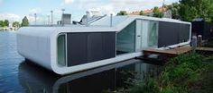 Image 1 of 8 from gallery of Water Villa Omval / Architects. Photograph by colin morsch Advantages Of Solar Energy, Water Villa, Solar Water Heater, Water House, Solar Powered Lights, Floating House, Tiny House Movement, Heating Systems, Sun Catcher