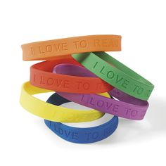 "Reading Bracelet, ""I love to Read"", 24 Pack from It's all about the Kids!"
