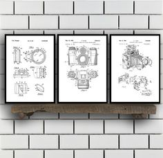 Camera Patent Prints, Camera Set of THREE, vintage Camera Invention Patent, Camera Poster, Camera Print, Camera, Camera Bag SP267 by STANLEYprintHOUSE  7.50 USD  All of the posters are printed using high quality archival inks, and will be of museum quality. Any of these posters will make a great affordable gift, or tie any room together.  Please choose between different sizes and colors.  These posters are shipped in mailing tubes via USPS Fi ..  https://www.etsy.com/ca/listing/477..