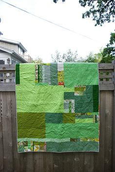 green quilt by pricklypearbloom