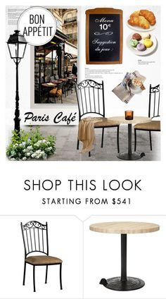 """Paris cafe"" by purpleagony ❤ liked on Polyvore featuring interior, interiors, interior design, home, home decor, interior decorating, Tom Dixon, iittala, contestentry and bonappetit"
