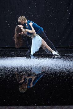 愛情いっぱいのペアスケート。 そのまま倒れてしまうのではと思わせる ドキドキ感が、魅了される。