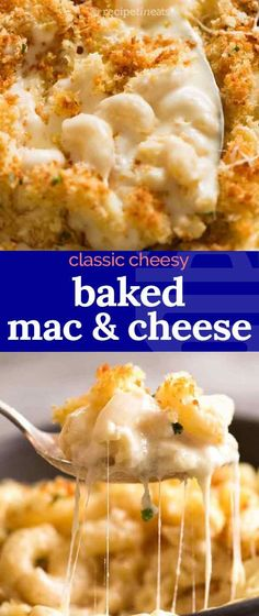 Recipe VIDEO above.An epic, classic Baked Mac and Cheese! Perfect in every way, this has a glorious cheesy sauce, and a beautiful crunchy, buttery topping. A great one for serving at gatherings because it won't dry out and go stodgy because of the extra step of tossing the macaroni in butter (stops it from bloating) and because it's extra saucy out of the oven.