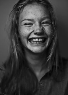 Young blond woman laughing #funnyface