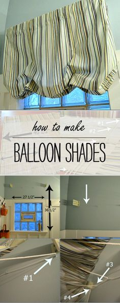 How To Make Balloon Shades - Full Tutorial with Instructions and How to Hang the Hardware