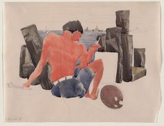 Charles Demuth, The Artist on the Beach at Provincetown, 1934. Carnegie Museum of Art