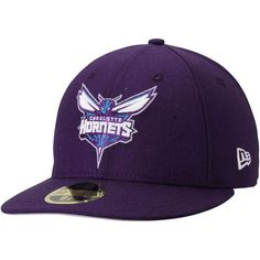 344e4988a0e Men s Charlotte Hornets New Era Purple Official Team Color Low Profile  59FIFTY Fitted Hat