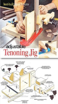 Adjustable Tenoning Jig Plans - Joinery Tips, Jigs and Techniques | http://WoodArchivist.com