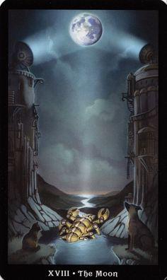 The Moon - The Steampunk tarot %%%%()()()()....http://www.pinterest.com/vintagebelle76/fortune-telling/