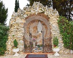 An  sanctuary made of stone in north Italy, Europe.