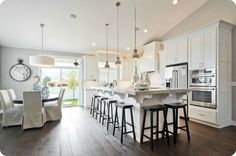 Huge Island, great colors. 2013 Salt Lake City Parade of Homes = A Happy House Peeper