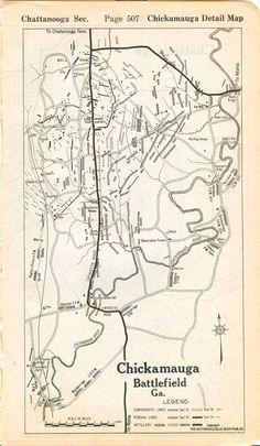 Chickamauga Battlefield Map