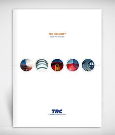 TRC Security Corporate Brochure by Anthony Begnoche, via Behance