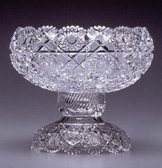 H. L. Blackmer Cut Glass Company, Sultana Punch Bowl, 1898 Clear Crystal, Clear Glass, Punch Bowl Set, Hand Painted Plates, Crystal Glassware, Art Deco Glass, Crystal Collection, Fenton Glass, Glass Company