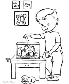 Fish Coloring Page 008