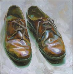 Paul Wright Paul Wright, Simple Oil Painting, Drawing Projects, A Level Art, Still Life Art, Malm, Art For Art Sake, Shoe Art, Painted Shoes