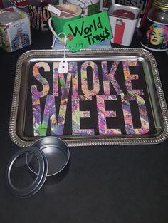 Smoke Weed Rolling Tray by TheWorldStoreCo on Etsy Stoner Room, Stoner Art, Perfume Tray, Chill Room, Weed Girls, 420 Girls, Smoke Weed, Smoking Accessories, Light Of Life