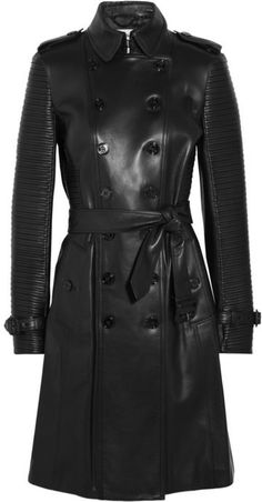 Burberry London Ribbed leather trench coat $4,995.00