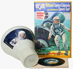 Hasbro GI Joe Space Capsule with pilot figure and soundtrack recording of the first American orbital space flight. Robby had this space capsule. My Barbie and his GI Joe took many space flights when we were younger. Vintage Toys 1960s, 1960s Toys, Retro Toys, Gi Joe, Childhood Toys, Childhood Memories, Science Fiction, Toy Garage, Space Toys