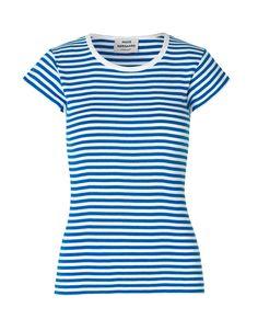 46a4f5de3744 Mads Norgaard Soft Blue   White Stripe Trappy T‑Shirt - Trouva