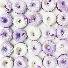 Edible Art Donut Wedding Favors - Follow us on Instagram: @thebohemianwedding