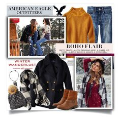 """""""Winter Wanderlust with American Eagle: Contest Entry"""" by miee0105 ❤ liked on Polyvore featuring American Eagle Outfitters and aeostyle"""
