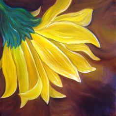 #art #painting #sunflower
