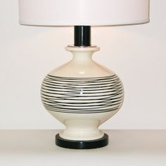 Mid-Century Modern Pottery Lamp by Royal Haeger . by retrosymphony