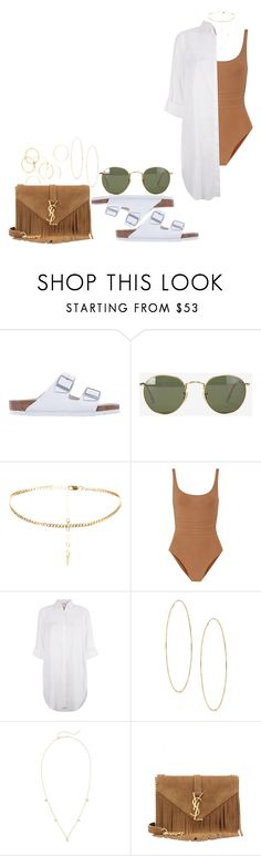 """#642"" by laylah-wish ❤ liked on Polyvore featuring Birkenstock, Ray-Ban, Eres, Monsoon, Lana, ZoÃ« Chicco, Yves Saint Laurent and A.V. Max"