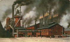 """pueblo colorado   The """"dark satanic mills"""" of the Pueblo steel mill, The CF&I."""