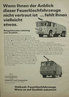 Oshkosh Airport Crash Trucks Advert