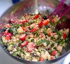Couscous salade met feta en rozijnen | De Culinaire Student
