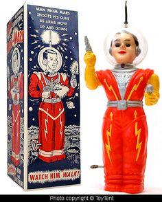 Toy Spaceman / Astronaut / Atomic Age / Space Age / Vintage Future / Retro Futurism