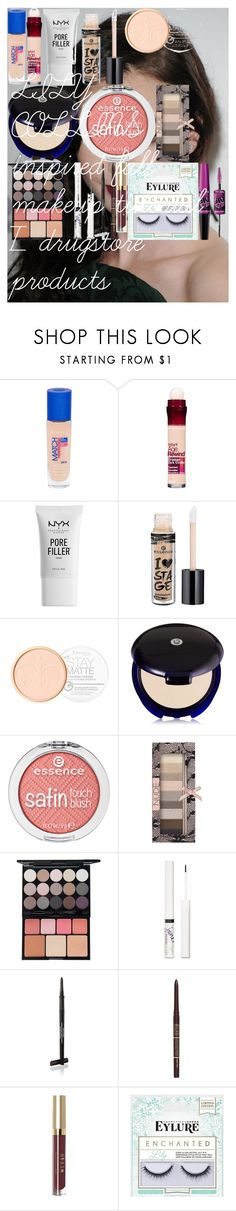 """LILY COLLINS inspired fall makeup tutorial / drugstore products"" by oroartye-1 on Polyvore featuring beauty, Rimmel, Maybelline, NYX, Essence, Physicians Formula, jane, Milani and Stila"