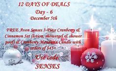 Day 6 go to https://www.avon.com/12-days-of-deals?s=AVAT120516K&c=EmailREP&repid=14752070&om_mid=592251&om_rid=2236031955&tp=i-H43-8I-2U4R-2RKA3X-1q-j4iN-1c-2RHQhk-26fO3a&em=mak1116@yahoo.com and unwrap your free gift. Expires 12/5/16..