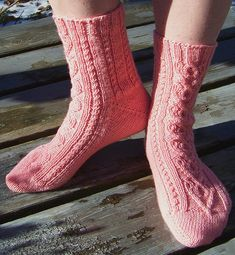 Be My Valentine by Sharon Bird, Free Knitting pattern, Louet Gems Fingering Weight Knitting Socks, Free Knitting, Knitting Patterns, Knit Socks, Finger Weights, Be My Valentine, Ravelry, Bird Free, It Cast