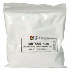 Adding of a teaspoon of tartaric acid to each gallon of wine will result in an increase of Tartaric Acid is the principal acid in wine grapes. House Cleaning Tips, Green Cleaning, Cleaning Hacks, Cleaning Products, Natural Cleaners, Spice Jars, Cleaning Solutions, Food Grade