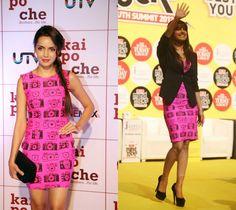 Who wore it better?  Pink camera print dress by Masaba  Priyanka Chopra or Shazahn Padamsee    Shop the dress at https://www.perniaspopupshop.com/whats-new/masaba-57