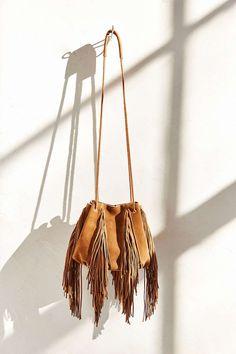 Ecote Fringe Bucket Bag