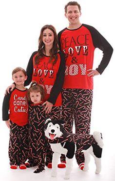 Matching Christmas Pajamas for Family - Couples - Dog - Candy Cane Kids - - Boys' Clothing, Sleepwear & Robes, Pajama Sets # # Matching Christmas Pajamas Couples, Matching Pajamas, Matching Couples, Christmas Pjs, Christmas Clothing, Christmas Jumpers, Holiday Pajamas, Womens Pyjama Sets, Dog Pajamas