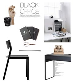 """""""Black Office"""" by nmkratz ❤ liked on Polyvore featuring interior, interiors, interior design, home, home decor, interior decorating, Resident, House Doctor, Red Clouds Collective and HAY"""