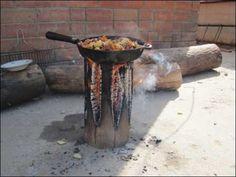 アメリカの丸太を使ったBBQの調理方法がおもしろい。調理台にもなり、火も効率よく燃えそうです。 : インテリア雑貨の伊勢海老太郎ブログ