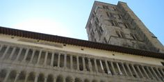 Arezzo, the Pieve di S Maria an imposing facade for a massive church in romanesque style