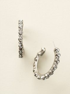 Prongless Crystal Hoop Earring in Clear Crystal by Sorrelli - $80.00 (http://www.sorrelli.com/products/ECR107ASCRY)