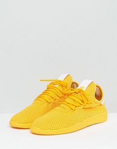 new arrival e5ded 630fc adidas Originals x Pharrell Williams Tennis HU Sneakers In Yellow CP97 Williams  Tennis, Pharrell Williams
