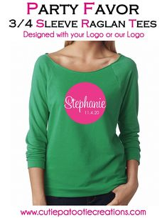 Bar and Bat Mitzvah Raglan Tee with YOUR Logo or OUR Logo - Party Favor T-Shirt