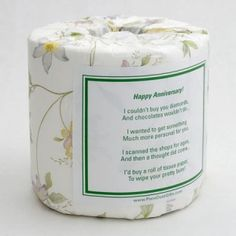 Personalized Anniversary Toilet Paper Card