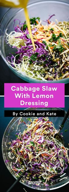 6. Cabbage Slaw With Lemon Dressing #healthy #gameday #recipes http://greatist.com/eat/game-day-recipes-that-wont-leave-you-in-a-food-coma