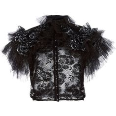 Rodarte Ruffled Metallic Tulle Blouse ($2,105) ❤ liked on Polyvore featuring tops, blouses, puff blouse, frilly blouse, frill sleeve blouse, flounce sleeve blouse and puff sleeve blouse