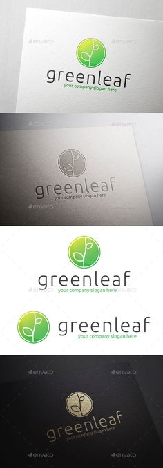 Green Leaf - Logo Design Template Vector #logotype Download it here: http://graphicriver.net/item/green-leaf-logo/10823234?s_rank=1102?ref=nesto
